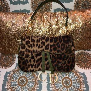 Leopard Print CD Shoulder Bag